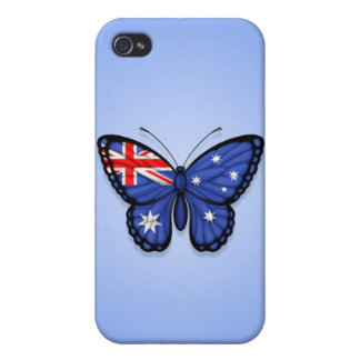 Australian Butterfly Flag on Blue iPhone 4/4S Cover