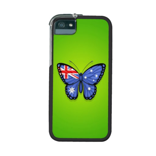 Australian Butterfly Flag on Green Case For iPhone 5/5S