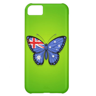 Australian Butterfly Flag on Green Case For iPhone 5C