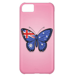 Australian Butterfly Flag on Pink iPhone 5C Cover