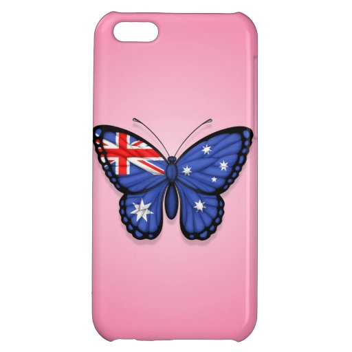 Australian Butterfly Flag on Pink Cover For iPhone 5C