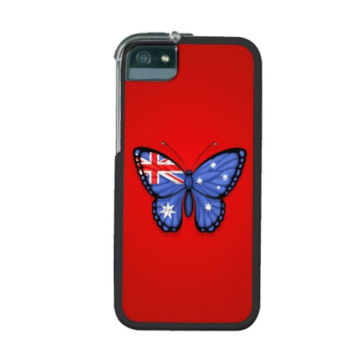 Australian Butterfly Flag on Red iPhone 5 Cover