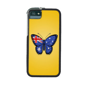 Australian Butterfly Flag on Yellow iPhone 5 Cases