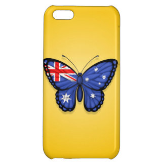 Australian Butterfly Flag on Yellow iPhone 5C Cases