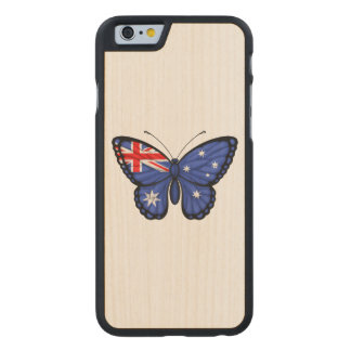 Australian Butterfly Flag Carved® Maple iPhone 6 Slim Case