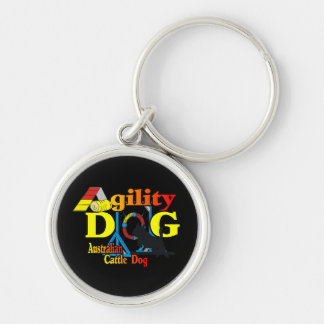 Australian Cattle Dog Agility Keychain