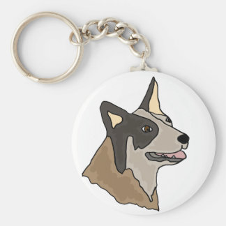 Australian Cattle Dog Art Keychain