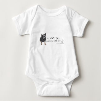 australian cattle dog baby bodysuit