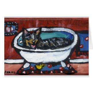 Australian Cattle Dog bath Card