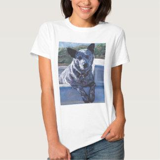 australian cattle dog Blue Heeler fine art Tees