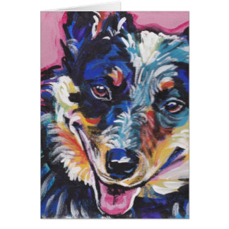 australian cattle dog Bright Colorful Pop Dog Art Card