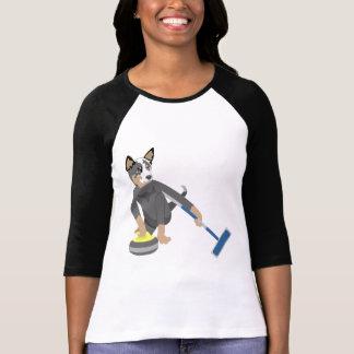 Australian Cattle Dog Curling T-Shirt
