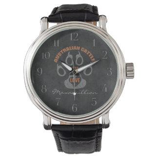 Australian Cattle Dog Gray Custom Watch