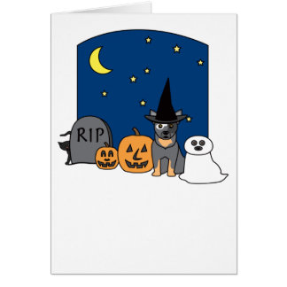 Australian Cattle Dog Halloween Card
