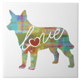 Australian Cattle Dog Love Tile