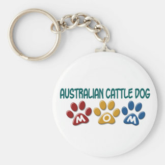 AUSTRALIAN CATTLE DOG MOM Paw Print Keychain