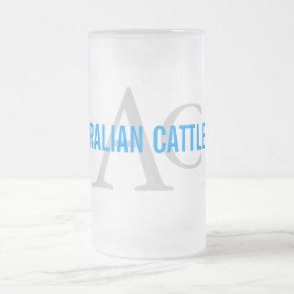 Australian Cattle Dog Monogram 16 Oz Frosted Glass Beer Mug
