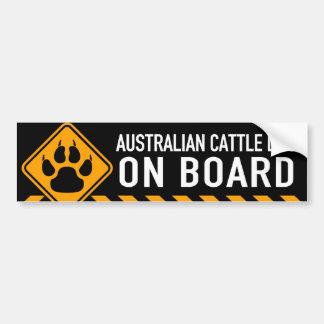 Australian Cattle Dog On Board Bumper Sticker