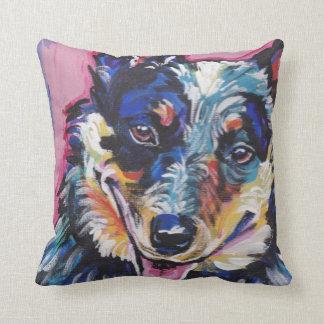 Australian Cattle Dog Pop Art Pillow