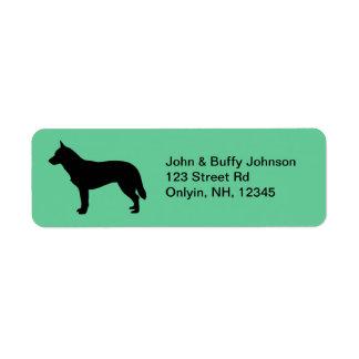 Australian Cattle Dog Return Address Label