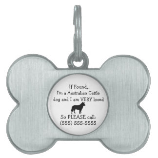 Australian Cattle Dog Safety Tag Return to Owner
