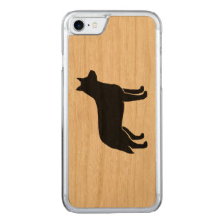 Australian Cattle Dog Silhouette Carved iPhone 7 Case