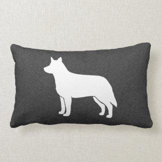 Australian Cattle Dog Silhouette Lumbar Pillow