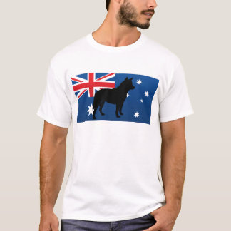 australian cattle dog silo australia flag T-Shirt