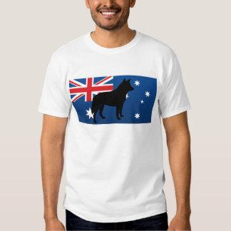 australian cattle dog silo australia flag t shirts
