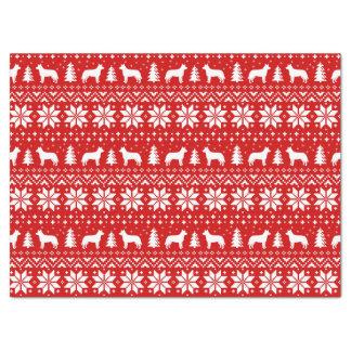 Australian Cattle Dogs Christmas Pattern Red Tissue Paper