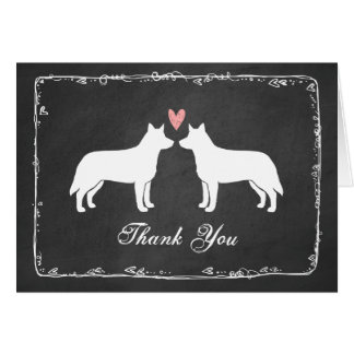 Australian Cattle Dogs Wedding Thank You Card