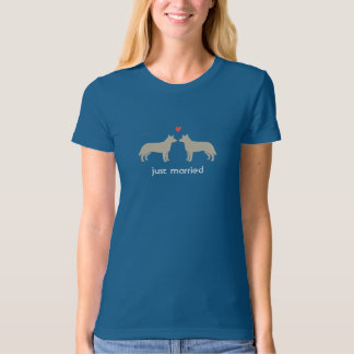 Australian Cattle Dogs with Heart and Custom Text T-Shirt