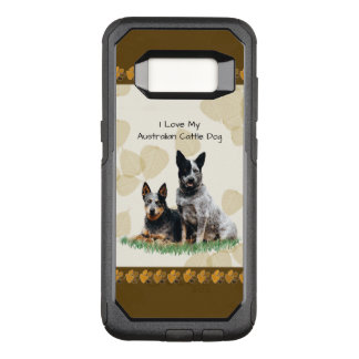 Australian Cattledog on Tan Leaves OtterBox Commuter Samsung Galaxy S8 Case