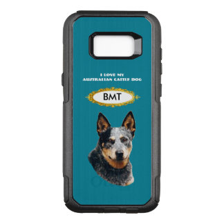 Australian Cattledog on Teal Floral Commuter OtterBox Commuter Samsung Galaxy S8+ Case