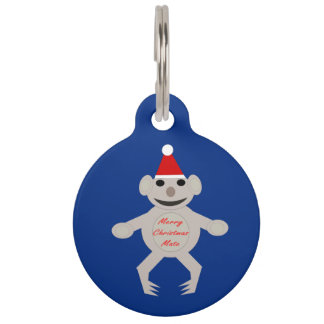 Australian Christmas Koala Bear Custom Dog Tag Pet Nametag