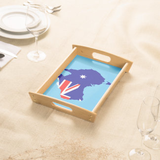 Australian country flag serving tray