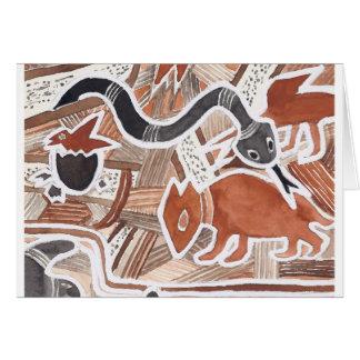 Australian Dreams Mythical Animals Snake Card 5c