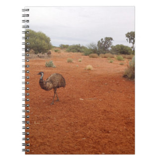 Australian Emu in the outback notebook