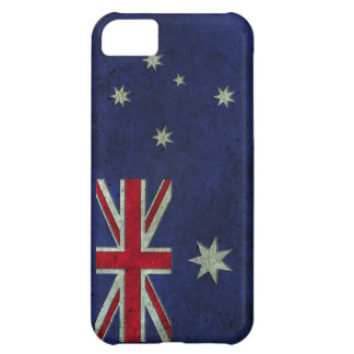 Australian Flag Aged Steel Effect iPhone 5C Covers