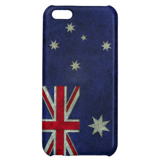 Australian Flag Aged Steel Effect Cover For iPhone 5C