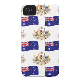 Australian Flag and Crest iPhone 4 Case