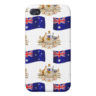 Australian Flag and Crest iPhone 4 Cover