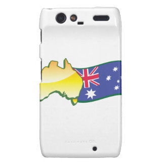 Australian flag and map aussie motorola droid RAZR covers
