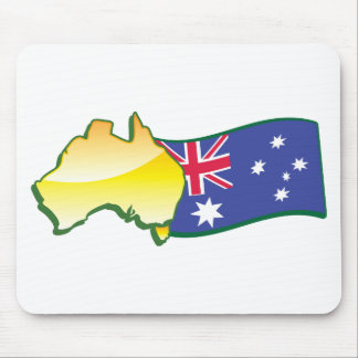 Australian flag and map aussie mouse pads