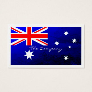 Australian Flag, Australia Business Card