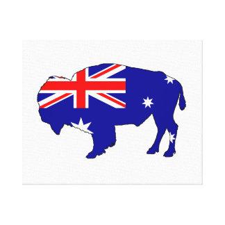 Australian Flag - Bison Canvas Print
