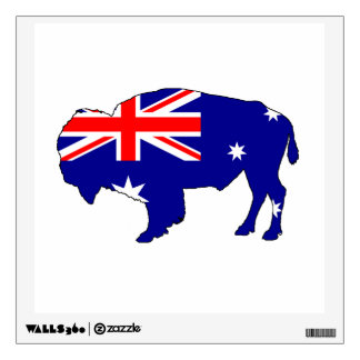 Australian Flag - Bison Wall Sticker