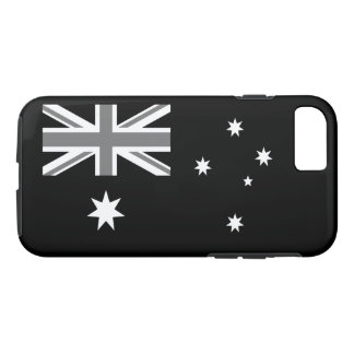 Australian Flag Black And White iPhone 7 Case