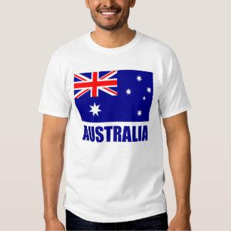 Australian Flag Blue Text T Shirt