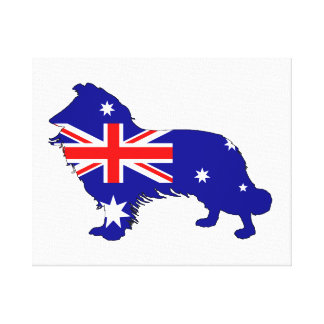 Australian Flag - Border Collie Canvas Print
